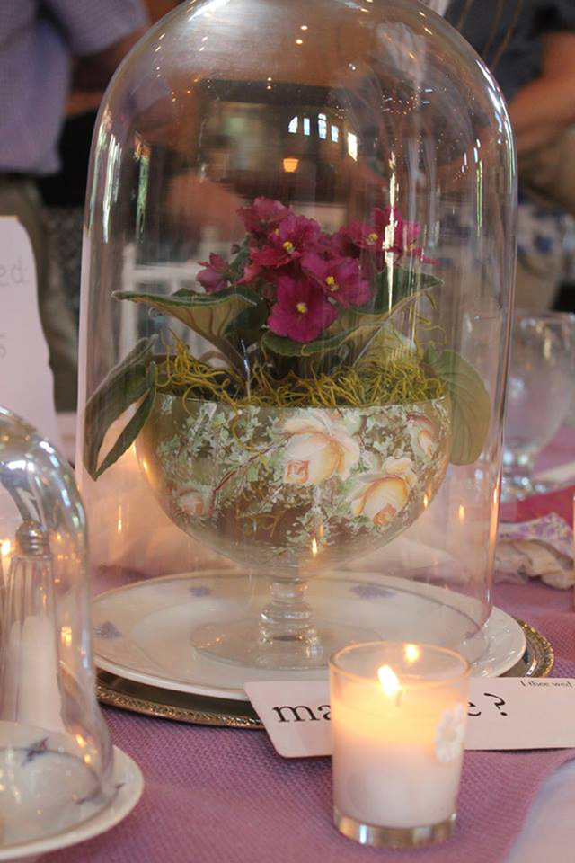 Violets Wedding African Violet Centerpiece_72